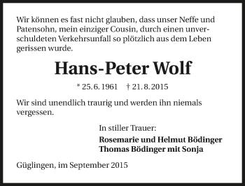 Zur Gedenkseite von Hans-Peter
