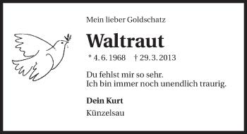Zur Gedenkseite von Waltraut