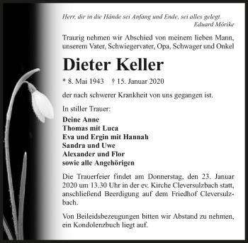 Traueranzeige von Dieter Keller