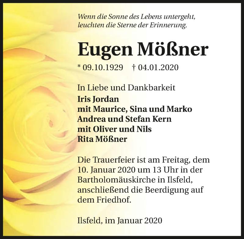 Traueranzeige für Eugen Mößner vom 08.01.2020 aus