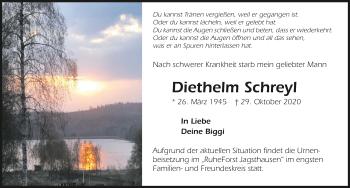 Traueranzeige von Diethelm Schreyl von GESAMT