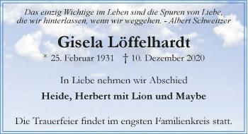 Traueranzeige von Gisela Löffelhardt von GESAMT