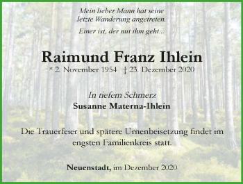 Traueranzeige von Ramund Franz Ihlein von GESAMT