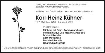 Traueranzeige von Karl-Heinz Kühner
