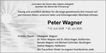 Traueranzeige von Peter Wagner