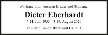 Traueranzeige von Dieter Eberhardt von GESAMT