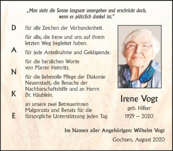 Traueranzeige von Ingrid Vogt von GESAMT