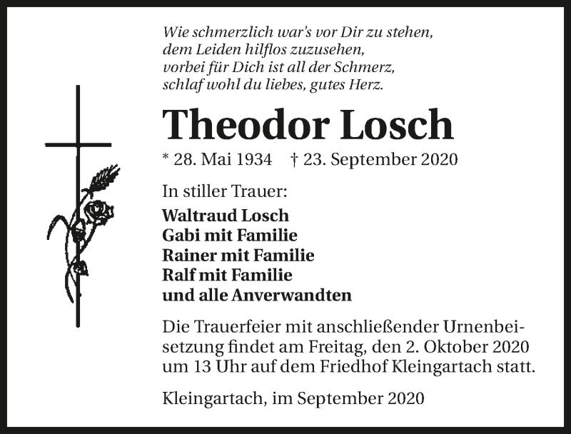 Traueranzeige für Theodor Losch vom 30.09.2020 aus GESAMT