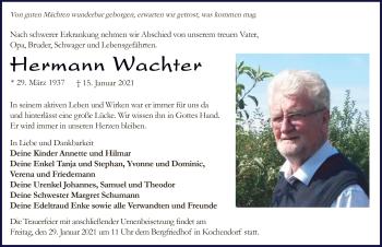 Traueranzeige von Hermann Wachter von GESAMT
