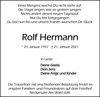Traueranzeige von Rolf Hermann von GESAMT