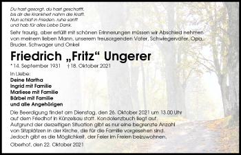 Traueranzeige von Friedrich Ungerer von GESAMT