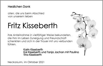 Traueranzeige von Fritz Kisseberth von GESAMT
