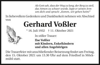 Traueranzeige von Gerhard Voßler von GESAMT