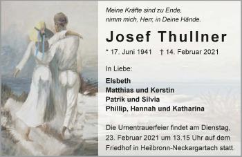Traueranzeige von Josef Thullner von GESAMT