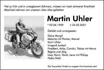 Traueranzeige von Martin Uhler von GESAMT