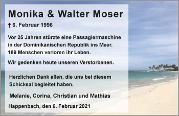 Traueranzeige von Monika Moser von GESAMT