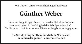 Traueranzeige von Günther Weber von GESAMT