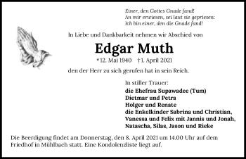 Traueranzeige von Edgar Muth von GESAMT