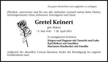 Traueranzeige von Gretel Keinert von GESAMT