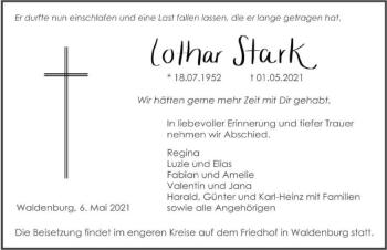 Traueranzeige von Lothar Stark von GESAMT