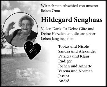 Traueranzeige von Hildegard Senghaas von GESAMT