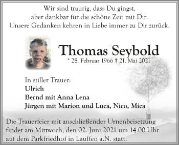 Traueranzeige von Thomas Seybold von GESAMT
