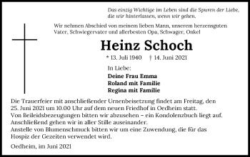 Traueranzeige von Heinz Schoch von GESAMT