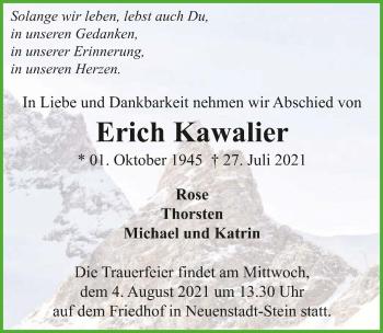 Traueranzeige von Erich Kawalier von GESAMT