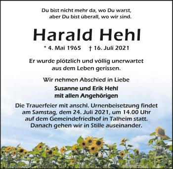 Traueranzeige von Harald Hehl von GESAMT