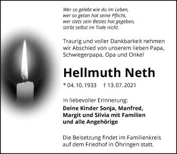 Traueranzeige von Hellmuth Neth von GESAMT