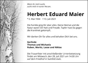 Traueranzeige von Herbert Eduard Maier von GESAMT