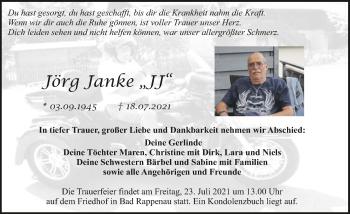 Traueranzeige von Jörg Janke von GESAMT