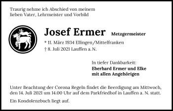 Traueranzeige von Josef Ermer von GESAMT