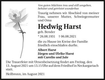 Traueranzeige von Hedwig Harst von GESAMT