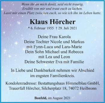 Traueranzeige von Klaus Hörcher von GESAMT