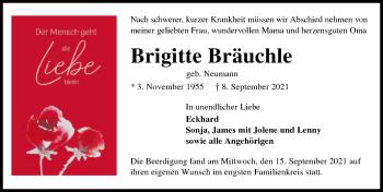 Traueranzeige von Brigitte Bräuchle von GESAMT