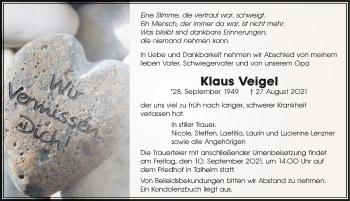 Traueranzeige von Klaus Veigel von GESAMT
